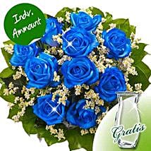 10 blue roses: Friendship Day Presents to Germany