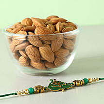 Fancy Rakhi And Almonds Combo: Rakhi for Brother in Germany