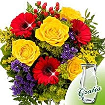 Flower Bouquet Blutenfee with vase: Flower Bouquets to Germany