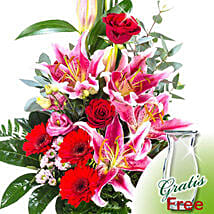 Flower Bouquet Majestic: Send Lilies to Germany