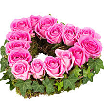 Heart Shaped Pink Aqua Rose Velvet: Mom's Day Bouquets in Germany