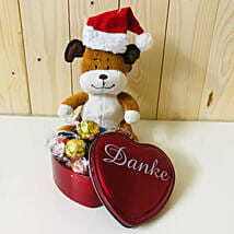Lindt Chocolate And Teddy Bear Combo: Christmas Gift Hampers to Germany
