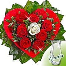 Rose Bouquet Amore with vase: Valentine's Day Flower Delivery in Germany