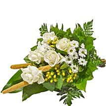 Sympathy Bouquet in White: Send Birthday Gifts to Stuttgart