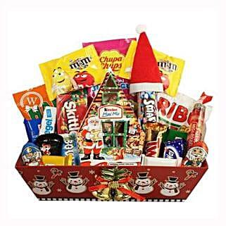 Christmas Retro Sweet Gift Basket: Corporate Presents to Greece