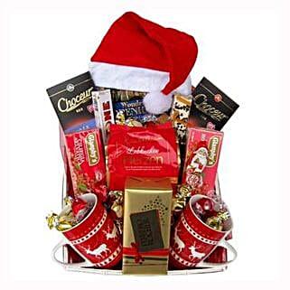 Santa Christmas Tea Basket: Gifts to Greece