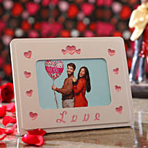 Personalised Couple In Love Photo Frame: Send Valentines Day Gifts to Hong Kong