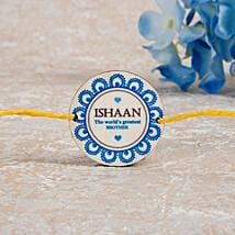 Worlds Greatest Brother Personalized Rakhi: Rakhi Delivery in Hong Kong