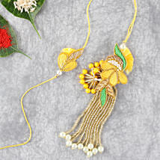 Bright And Beautiful Lumba Rakhi Set: Rakhi for Bhaiya Bhabhi in indonesia