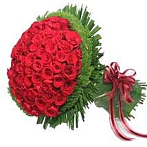 Bunch of 100 roses INDO: Congrats Flower in Indonesia