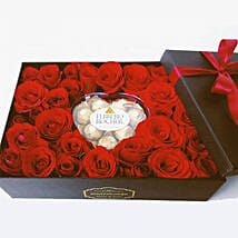 Classic Romance Flower Box: Birthday Gift Delivery in Indonesia
