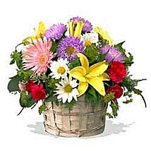 Mixed flower basket INDO: Send Mothers Day Gifts to Indonesia