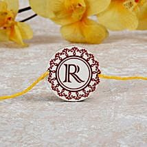 Personalized Rakhi With Initial: Rakhi to indonesia