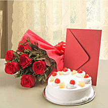 Roses N Cake Hamper: New Year Cake Delivery in Indonesia