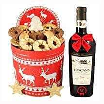 Christmas Tin Box With Red Tuscan: Corporate Gifts to Ireland