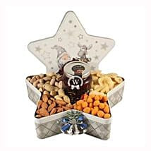 Christmas Star with Nuts: Send Gifts to Italy