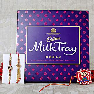 Family Rakhi Set with Cadbury Milk Chocolates: Send Rakhi to Italy