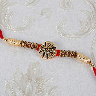 Premim Diamond Designer Rakhi: Rakhi Delivery in Italy