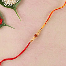 Single Rudraksha Rakhi: Send Rakhi to Italy