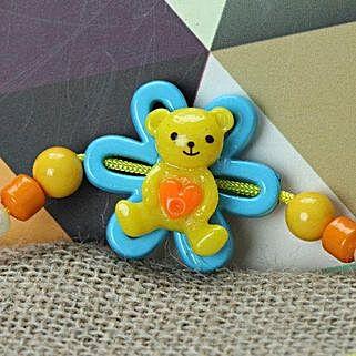 Cute Little Teddy Rakhi JOR: Send Rakhi to Jordan
