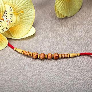 Wooden Beads Rakhi: Rakhi Gifts to Jordan