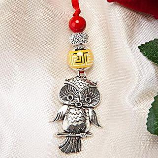 Trendy Owl Lumba Rakhi: Send Rakhi to Korea