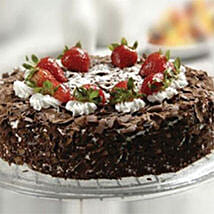 Black Forest Cake With Strawberry: Send Mothers Day Cakes to Kuwait