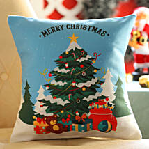 Christmas Tree Printed Cushion: Christmas Gift Delivery in Kuwait
