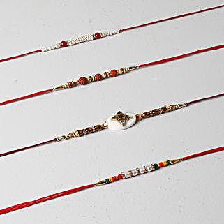 Designer Rakhi Collection Of 4: Send Rakhi to Brother in Kuwait