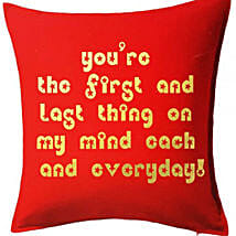 Red Printed Cushion With Love Quote: Get Well Soon Gifts to Kuwait