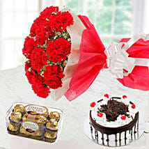 Sweet Romantic Gift Combo: Anniversary Cake Delivery in Kuwait