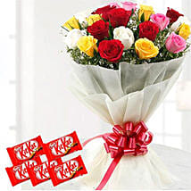 Thrilling Flowers And Choco Combo: Birthday Flower Delivery in Kuwait