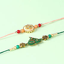 Two Designer Rakhi Combo: Set Of 2 Rakhi To Kuwait