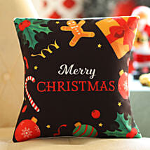 Xmas Themed Wishes Cushion: Send Christmas Gifts to Kuwait