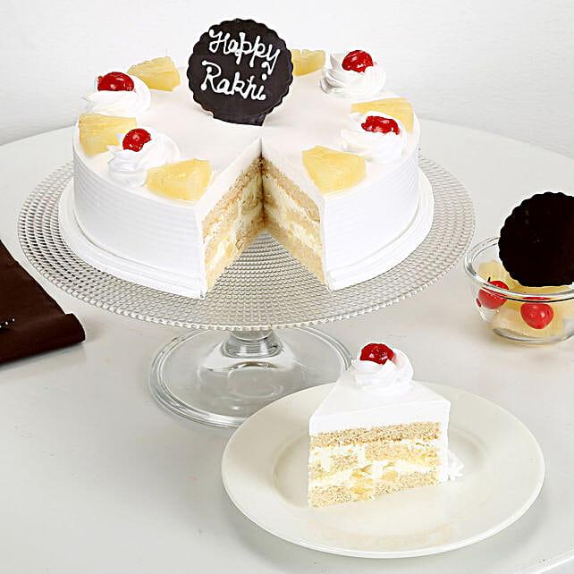 Rakhi and Pineapple Cake half kg