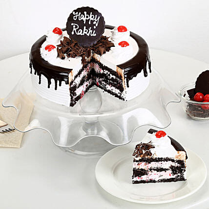 Rakhi with Blackforest Cake 1kg eggless