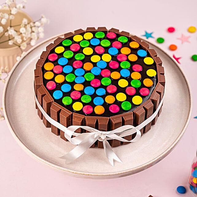Candy bar birthday cake