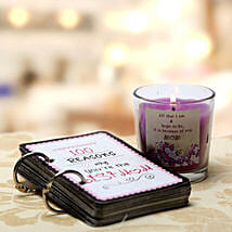 100 Reasons For Best Mom and Candle: Books