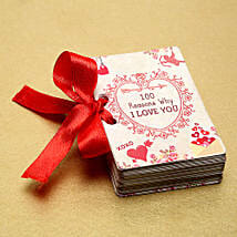100 Reasons of Love book: Unique Valentine Gifts