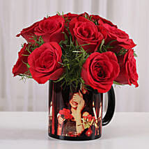 15 Red Roses Picture Mug: Flowers N Personalised Gifts