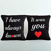 2 Printed Cushion Combo: Send Gifts to Neemuch
