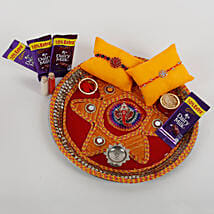 2 Rakhis And Cadbury Chocolates Combo: Rakhi Gifts to Dhanbad