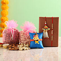 3 Rakhi Set With Dry Fruits: Rakhi Same Day Delivery in India