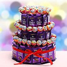 3 Tier Choco Pop Cake: Send Chocolates to Chennai