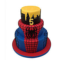 3 Tier Spiderman Cake: