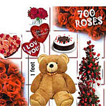 700 Roses Love Special: Send Flowers & Teddy Bears to Chennai