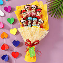 8 Baby Doll Bouquet: Send Valentines Day Soft toys