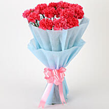 Adorable Pink Carnations Bouquet: Birthday Gifts for Her