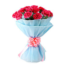 Adorable Pink Carnations Bouquet: Send Anniversary Flowers for Her