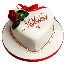 All My Love Cake: Heart Shaped Cakes Lucknow